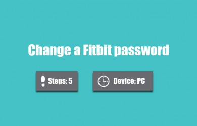 change fitbit password 0