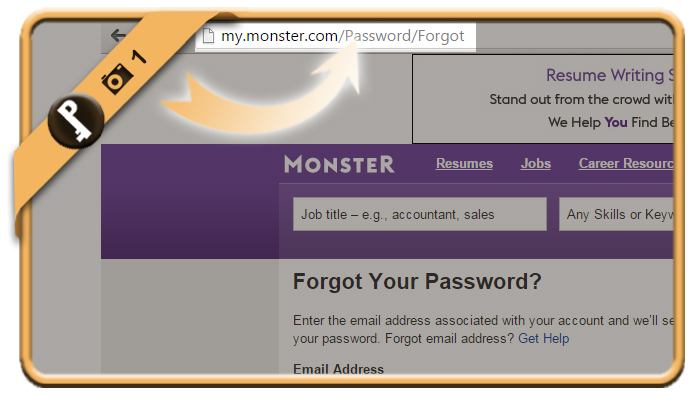 change forgotten monster password 1