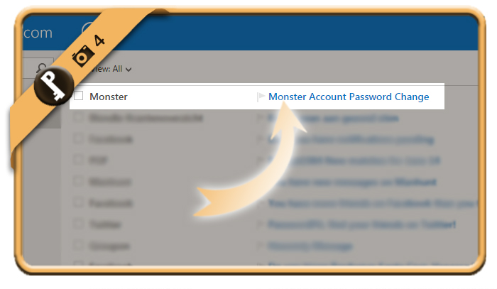 change forgotten monster password 4