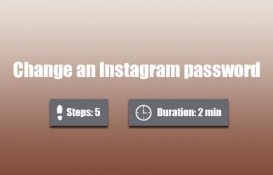 change instagram password 0