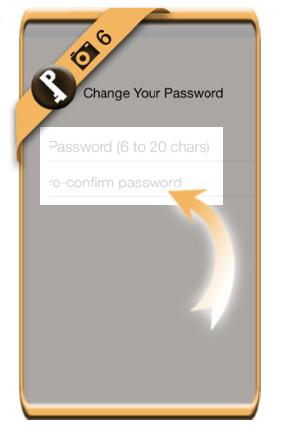 change line password 6