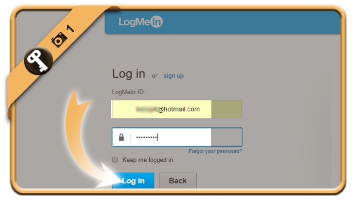 change logmein password 1