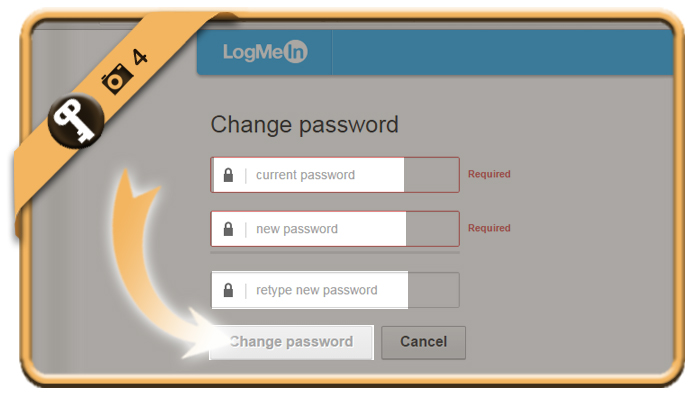 change logmein password 4