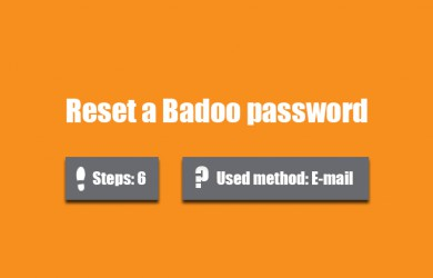 forgot badoo password 0