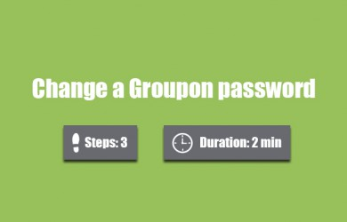 Change groupon password 0