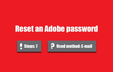 Forgot adobe password 0