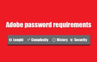 adobe password requirements 0