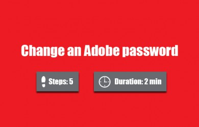 change adobe password 0