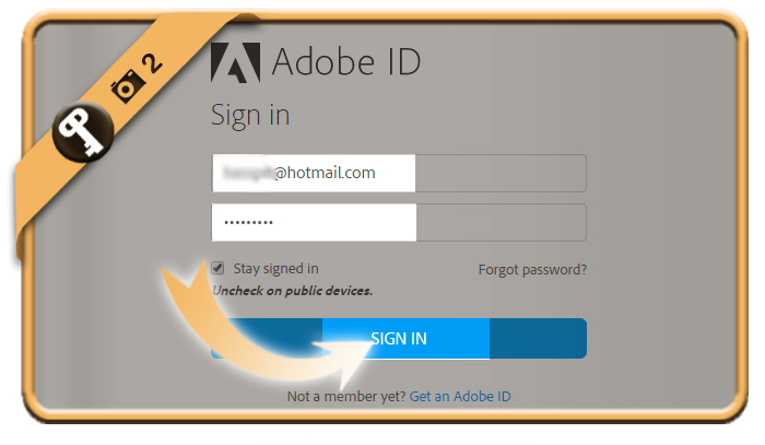 change adobe password 2