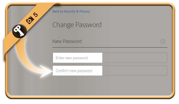change adobe password 5