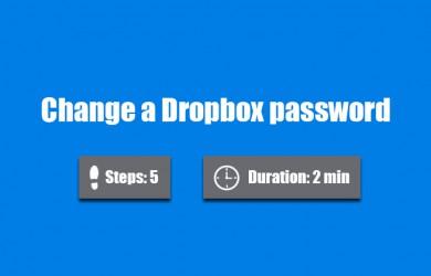 change dropbox password 0
