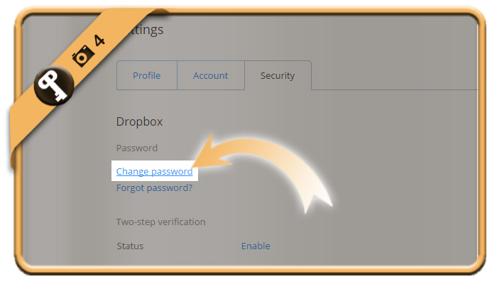 change dropbox password 4