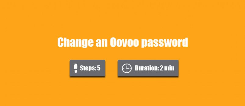 change oovoo password 0