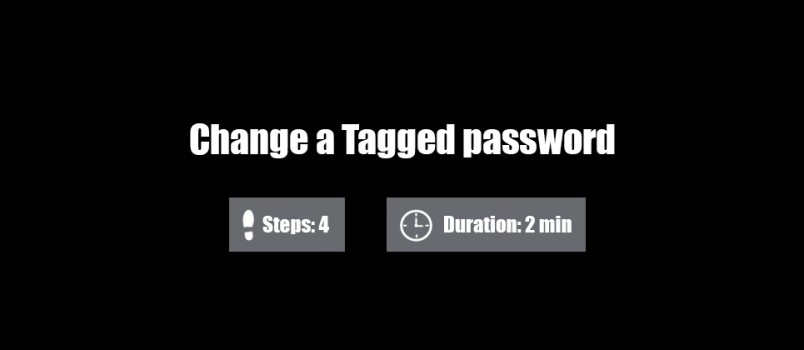 change tagged password 0
