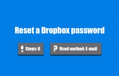 forgot dropbox password 0