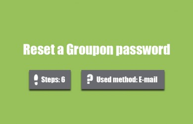 forgot groupon password 0