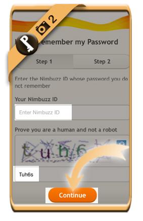 forgot nimbuzz password 2