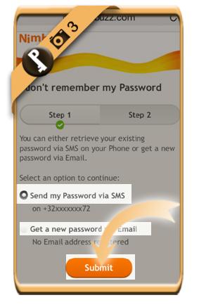forgot nimbuzz password 3