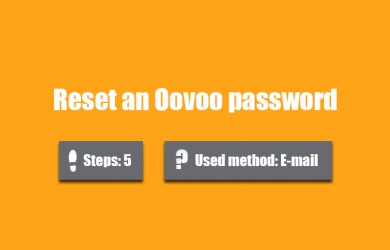 forgot oovoo password 0