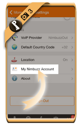 nimbuzz change password 3